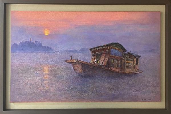 《曙光——红船精神》 郭凯 布面油画